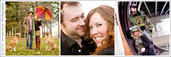 Just a few examples of how your couples session can take shape!