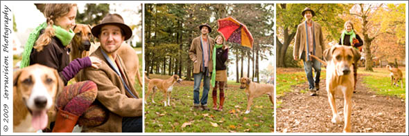Preview portrait of this couple with their two dogs in the park