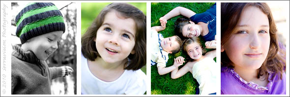 Examples of children's outfits for portrait sessions