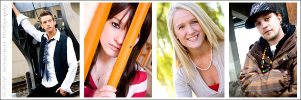 Examples of the range of outfits that work for senior portraits