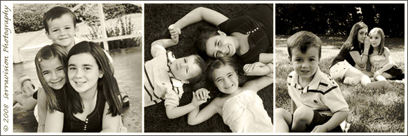 Siblings play in the park for this children's portrait session