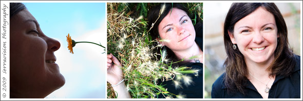 An acupuncturist and natural healer gets her head shots in the garden!