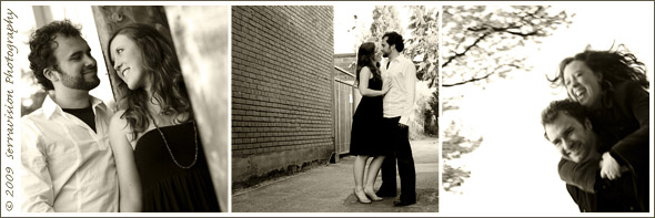 Engagement photos in an urban Portland setting