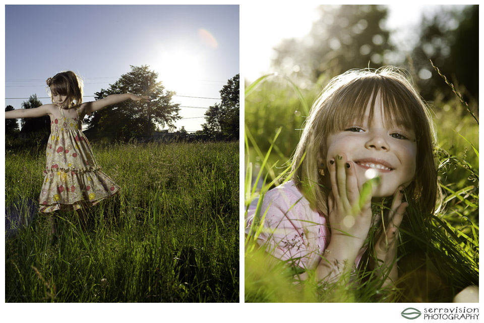 Using flash with 4-yr-old girl at magic hour