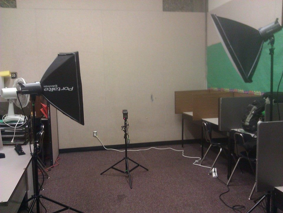 Behind-The-Scenes Setup  Photo from HB Lee Middle School Photo Booth