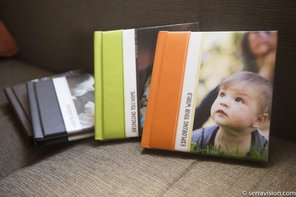 high-end albums designed to be archival storybooks that tell the story of a family over time.