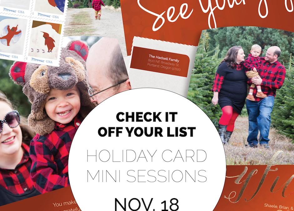 Holiday Card Mini Sessions at Lee Farms