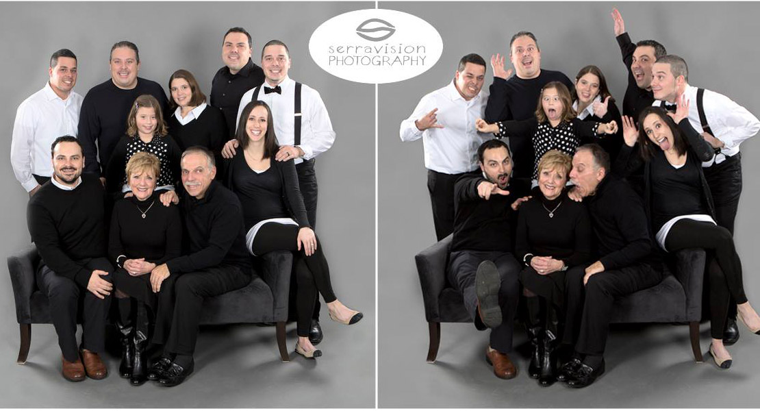 Large Family Group Photographed In Studio