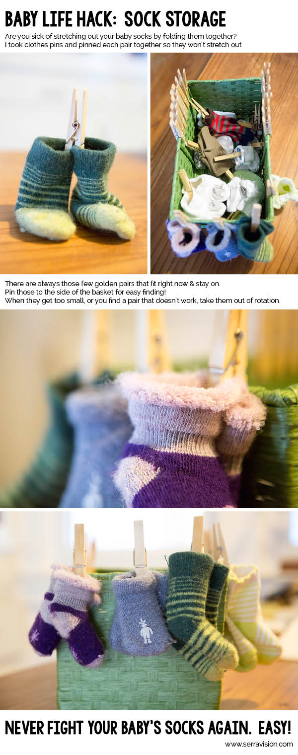 Organizing your life – and your baby's socks