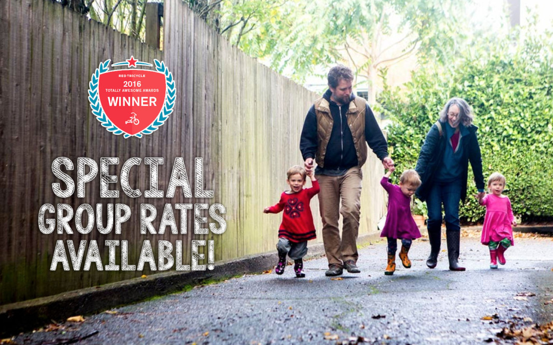 Special Group Rates available for lifestyle family photography!